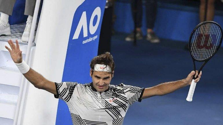 El suizo Roger Federer se metió en la final del Abierto de Australia y el domingo irá por el título.