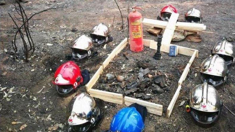 Homenaje a las víctimas de los incendios en Chile