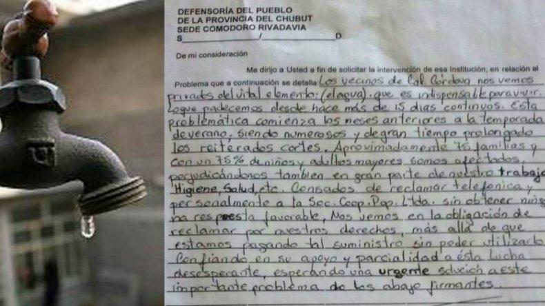 Vecinos de Caleta Córdova llevan una semana sin agua