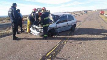 Una mujer y dos niños sufrieron un accidente a 20 km de Sarmiento