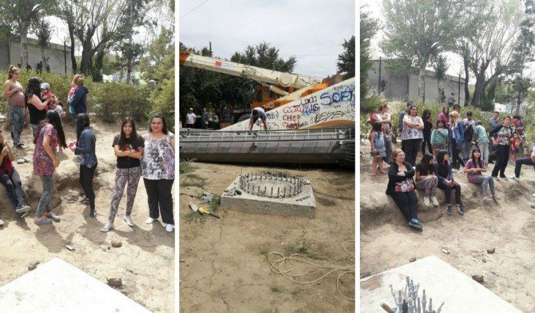 Vecinos de Laprida pararon nuevamente la instalación de una antena