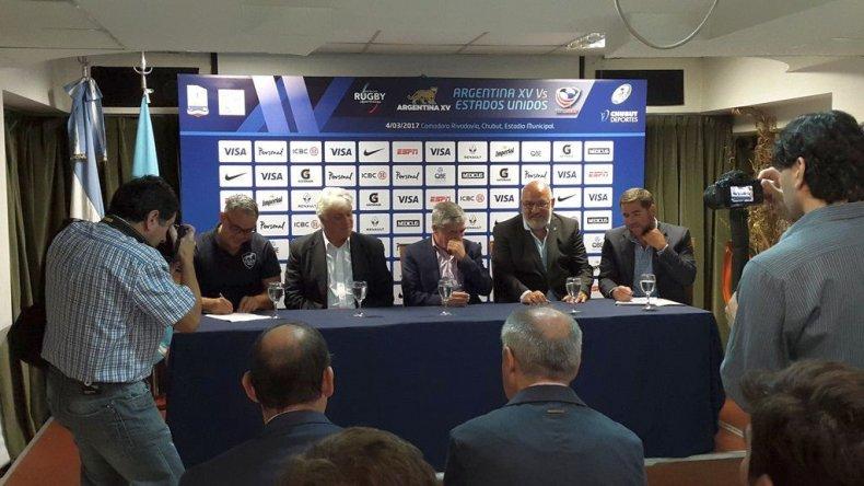 Presentaron el partido de Argentina XV en Comodoro