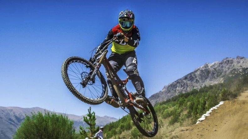 En la competencia de descenso extremo disputada en Bariloche