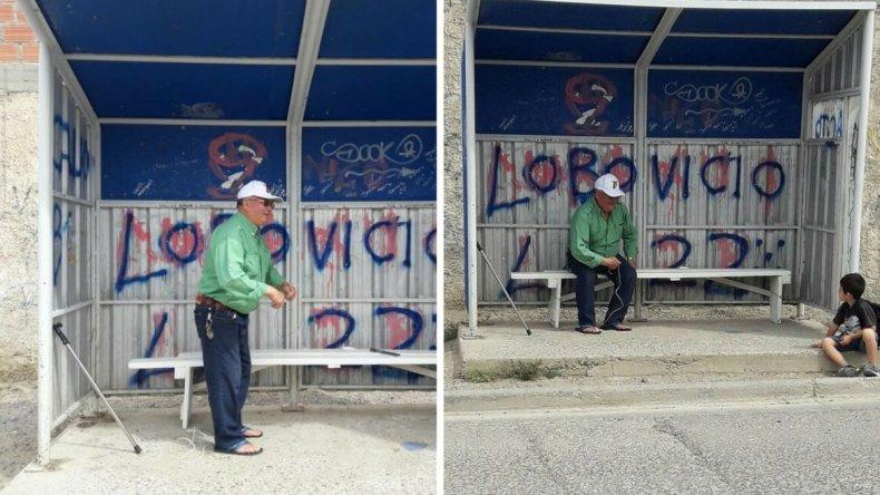 Con 77 años construyó un banco para la garita del barrio