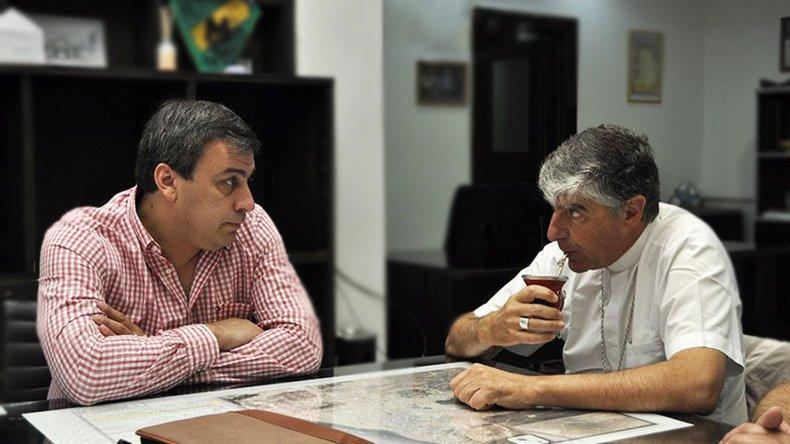 El obispo Miguel Angel Dannibale se reunió con el intendente de Caleta Olivia