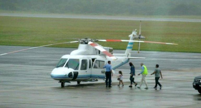 Macri usó el helicóptero presidencial para trasladar a Awada y Antonia