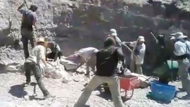 Equipo de Paleontología de Chubut se sumó al  #MannequinChallenge