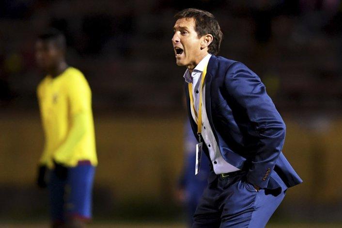 Claudio Ubeda es optimista de cara al encuentro con Brasil en el estadio Olímpico de Quito.