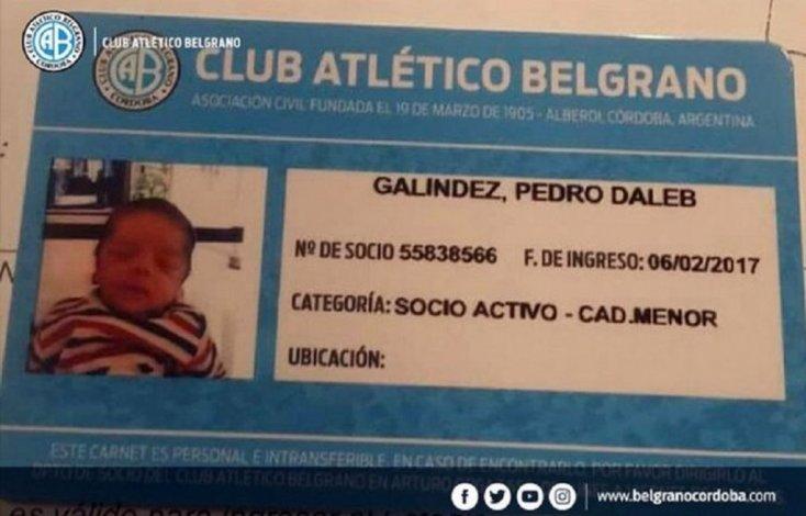 Un hincha de Belgrano le puso a su hijo Dale B