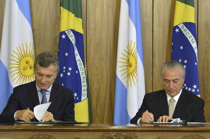 Macri y Temer ahora creen en la integración frente a las incógnitas del escenario global.