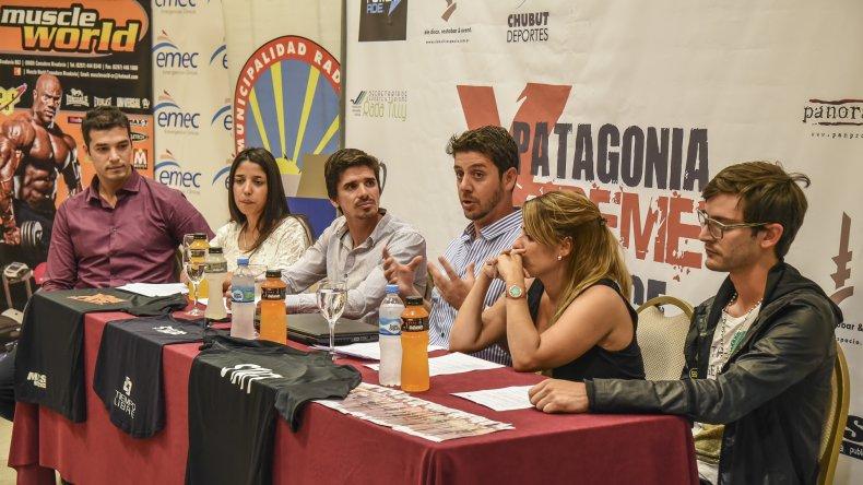Organizadores junto a funcionarios de Rada Tilly presentaron el primer desafío Patagonia Extreme Race.