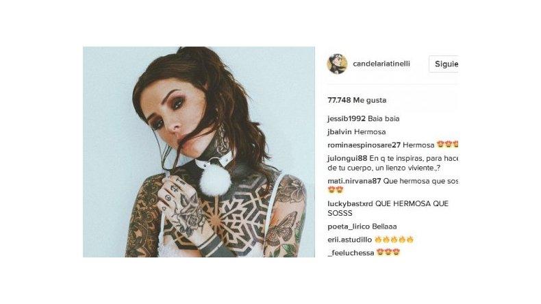 Candelaria Tinelli, piropeada por un famoso cantante