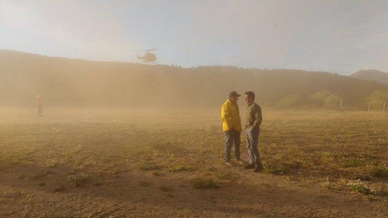Incendio en Cholila: entre 10 y 20 hectáreas ya fueron afectadas