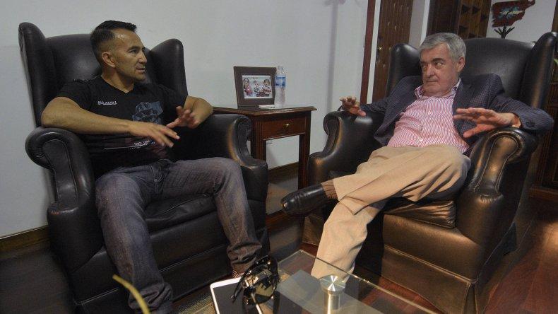 El gobernador recibió a Omar Narváez