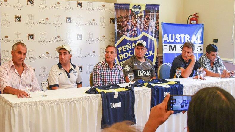 Ex jugadores y dirigentes de Boca visitan Comodoro Rivadavia con un fin solidario.