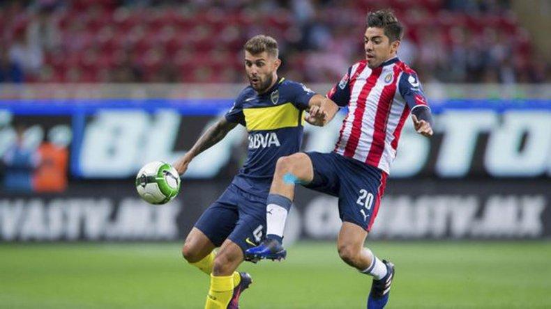 Gino Peruzzi en el partido que Boca perdió por penales ante Chivas