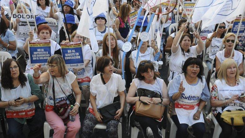 Los docentes perdieron poder adquisitivo desde que asumió Mauricio Macri.