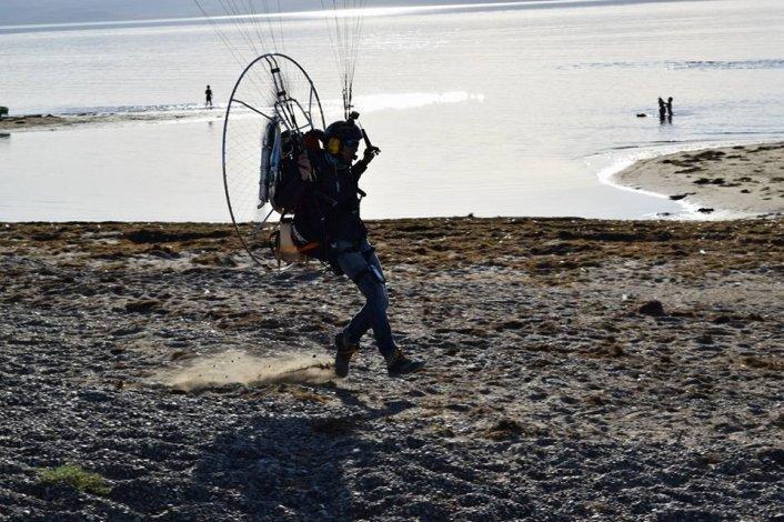 La sequía del Lago Musters desde el aire