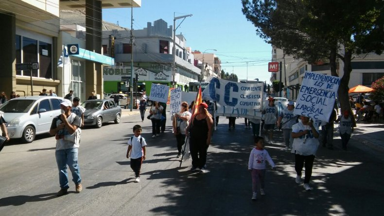 La CCC salió a las calles a pedir por la Ley de Emergencia Social