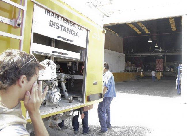 Un principio de incendio afectó el depósito del supermercado ubicado en el barrio 9 de Julio.