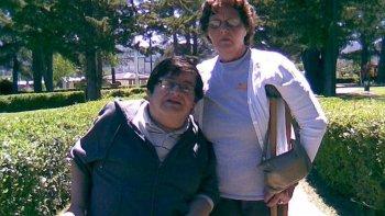 Margarita y Luis, en el primer viaje que realizaron juntos después del reencuentro, a Trevelin, localidad de Chubut