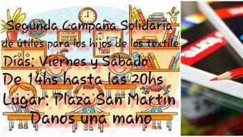 Segunda campaña solidaria para los hijos de textiles