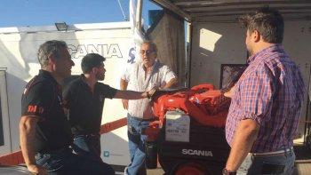scania presento su linea de motores marinos en el puerto de rawson