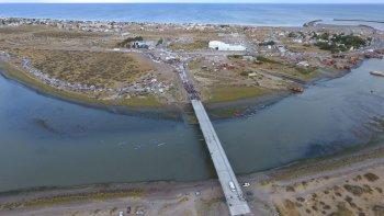Una vista aérea del puente inaugurado ayer.