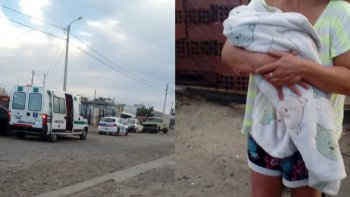 dos policias ayudaron a una mujer que dio a luz en su casa