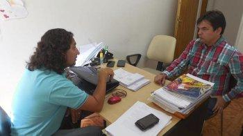 El subsecretario de Transporte Multimodal, Pablo Schultz, se reunió con el concejal de Rada Tilly, Diego Acosta.