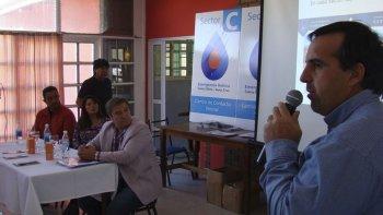 El funcionario nacional se refirió a un tema que es acuciante para los caletenses: el acceso al agua.
