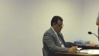El fiscal Herminio González Meneses representó a la Fiscalía en la causa contra Iván Alain Díaz.