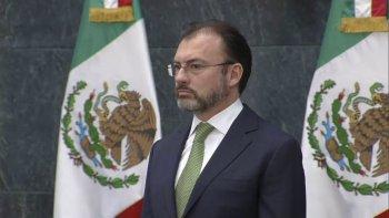 El canciller mexicano Luis Videgaray criticó firmemente al gobierno de EE. UU.
