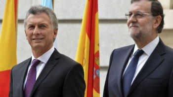 Macri realiza una visita oficial a España.