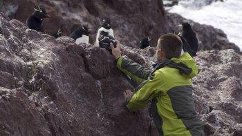 La isla Pingüino es uno de los puntos más atractivos de la provincia, ya que posibilita navegar y hacer trekking.