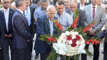 La participación de representantes de Petroleros Jerárquicos en los actos por el Aniversario de Comodoro Rivadavia.