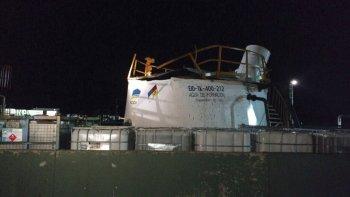 El tanque de almacenaje que sufrió la explosión.