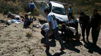 cuatro personas heridas tras accidente en canadon ferrays