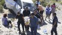 El vehículo se desbarrancó en la subida del Cañadón Ferrays y dio varios tumbos.
