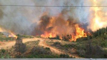 alerta roja por incendio forestal en valparaiso