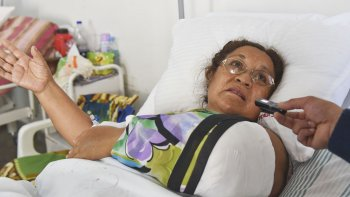 María Ester contó la salvaje agresión que sufrió el lunes.
