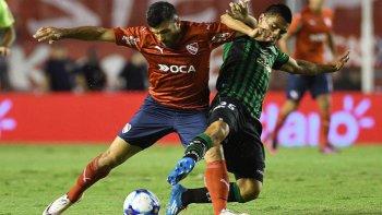Emmanuel Gigliotti hizo anoche su debut con la camiseta de Independiente.