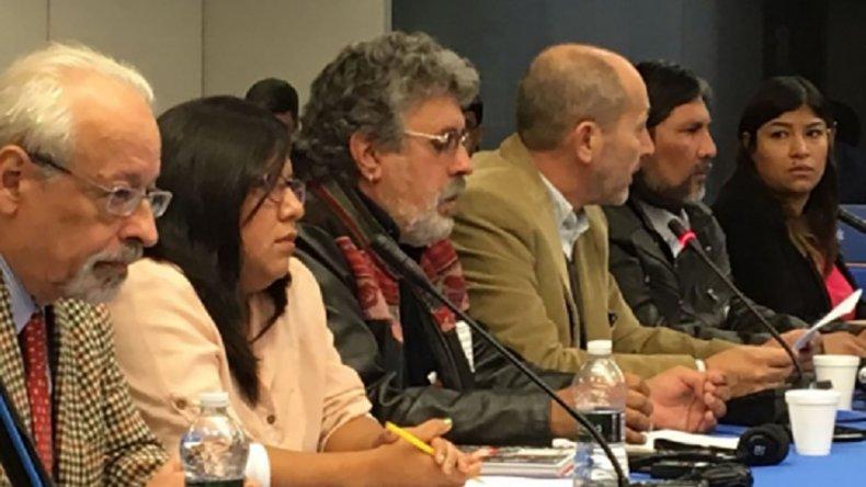 Representantes de sindicatos y organizaciones de la sociedad civil participaron de una audiencia en la CIDH.