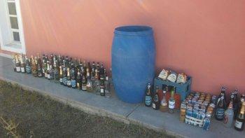 destruyeron las bebidas decomisadas durante el verano