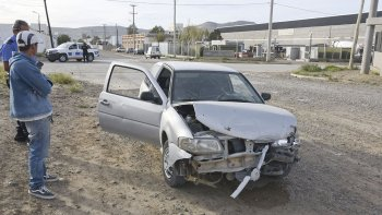El choque se produjo a las 17:10 de ayer sobre las calles Eustaquio Molina y Marcial Riadigós.