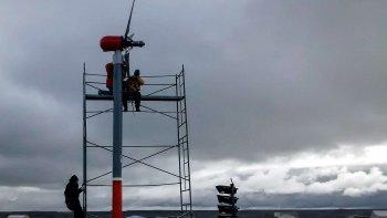ensayan un generador eolico adaptado al clima de la antartida