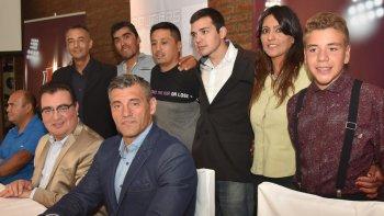 El ex arquero de la selección argentina, Sergio Goycoechea, compartió el lanzamiento del nuevo portal digital junto a los integrantes del staff y director del grupo de medios periodísticos, Nelson Aguilar.