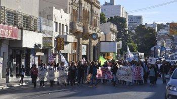 En Comodoro militantes también se manifestaron por el Día de la Memoria, por la Verdad y la Justicia.