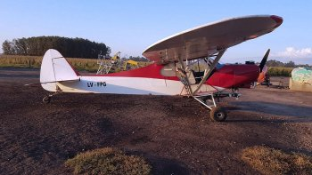 La avioneta que usaba la banda narco para traficar droga desde Paraguay.