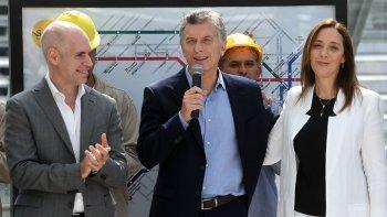 Mauricio Macri al inaugurar el Centro de Transbordo en Constitución.